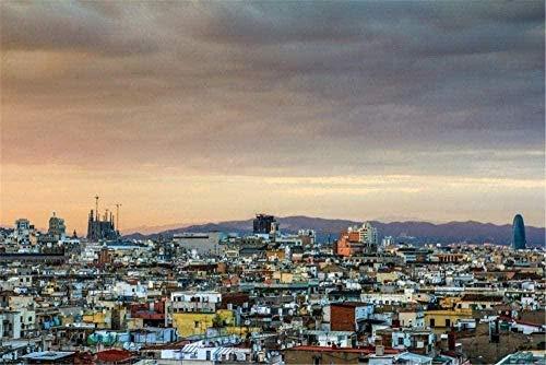 ChuYuszb puzzle Puzzle 1000 piezas juegos para adultos Barcelona-Sagrada Familia...