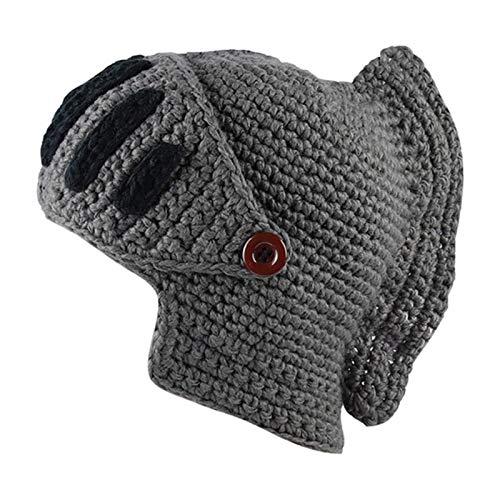XMYNB Cálido Sombrero de Punto Sombrero de Invierno Beanie Sombreros Para Hombres Caliente Máscara Caballero Casco de Punto Gorra Hecho a Mano Gladiador Máscara Sombrero de Invierno Mantener Caliente