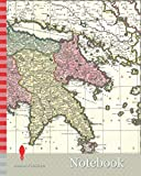 Notebook: Map, Regnum Moreae accuratissime divisum in provincias Saccaniam, Tzaconiam, Caliscopium et ducatum Clarensae una cum insulis Cephalonia, ... Cythera, Aegina et Sidra, Copperplate print