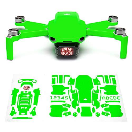 WRAPGRADE Skin Set di Adesivi Compatibile con DJI Mini 2 (Neon Green)