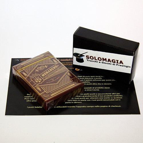 Monarchs Playing Cards Red | Rot, Theory11, mit Goldfolie, Luxury Playing Cards, Luxus-Poker-Spielkarten, Q1-Qualität, Signature Premium 909 Finish, FSC-zertifiziertes Papier aus verantwortungsvoller Waldwirtschaft