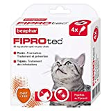 Beaphar - FIPROtec, pipettes anti-puces et anti-tiques au Fipronil - Chat - 4...