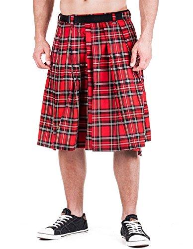 Falda escocesa de tartán rojo hasta 4XL rojo rojo