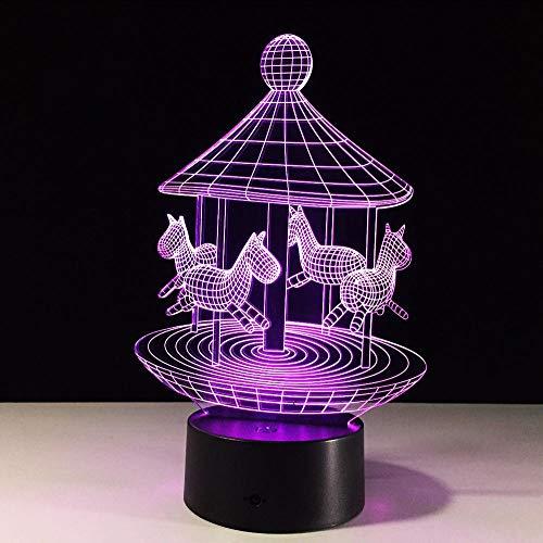 Layyqx 3D-lamp voor kinderen, met 7 lampjes, nachtlampje
