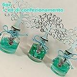 Sindy Bomboniere 6 Diffusori per Ambiente con Frasi Amore Gioia Sogni profumatore con fragranza + Kit di confezionamento (Celeste)
