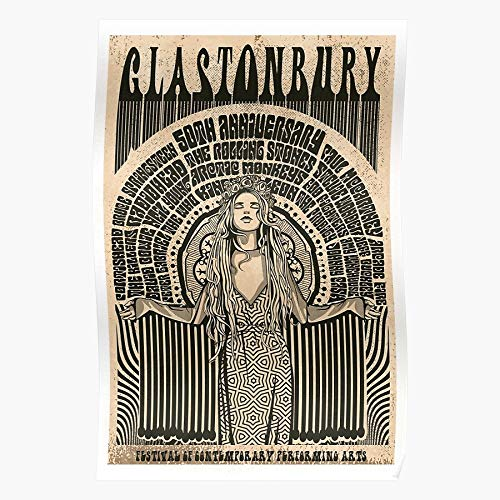 Glasto 2020 Glastonbury Line Festival Up I Retro Fashion - The Most Impressive and Stylish Indoor Decoration Poster Available Trending Now