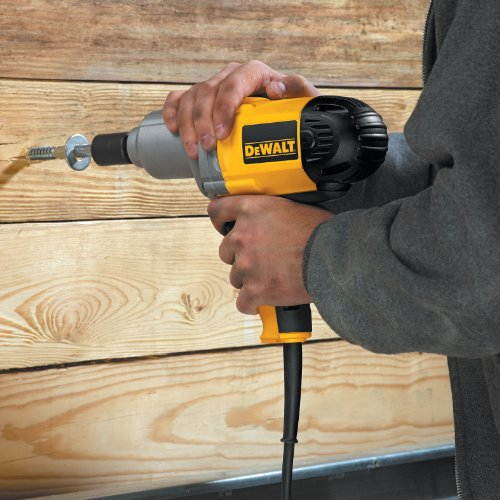 DEWALT Corded Impact Wrench with Detent Pin Anvil, 1/2-Inch, 7.5-Amp (DW292)