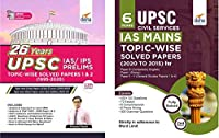 UPSC General Studies IAS Prelims (26 Years) & Mains (6 Years) Topic-wise Solved Papers - set of 2 Books - 2nd Edition