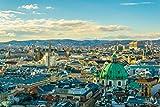Wien City Skyline Art XXL Wandbild Kunstdruck Foto -Poster-