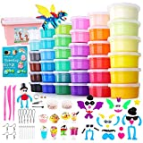 HOLICOLOR 36 Colors Air Dry Clay Kit Magic Modeling Clay Ultra Light Clay with Accessories...