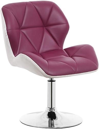 Nordique Haute Qualité Mode Chaise Bar Tabouret rougeation Ascenseur Chaise éponge Dossier PU Art Haut Tabouret (Violet + Blanc)