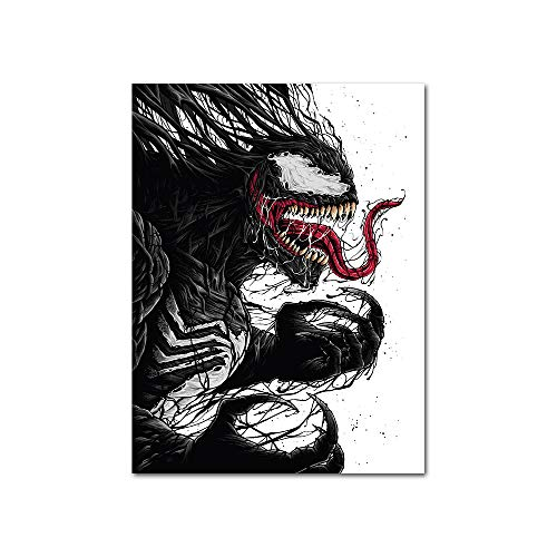 PENGDA Canvas Wall Art for Marvel Venom Super Hero Painting on Canvas Nordic Style Poster for Home Living Room Unframed 24x32 inches