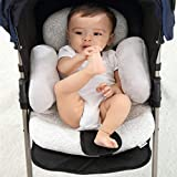 KAKIBLIN Baby Stroller Cushion, Soft Baby Stroller Liner Pram Head and Body Support Pillow Washable Baby Stroller Padding Head Support Cushion for Newborn, Gray