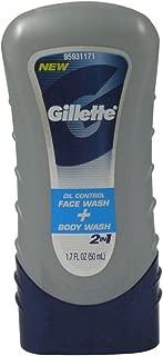 Gillette Oil Control Face & Body Wash 1.7 fl oz (50 ml)