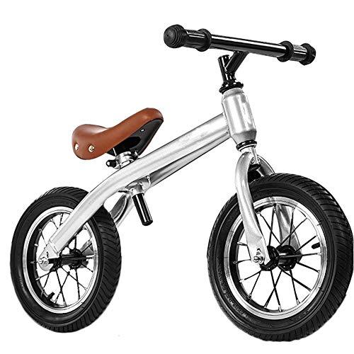 YJFENG Kinder Laufrad Lauflernhilfe Rutschfester Gummireifen Körper Aus Kohlenstoffstahl TPR Griff Sicherheit Gleichgewichtssinn Entwickeln (Color : Gray, Size : 70x50cm)