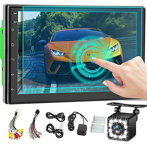 Android 9.0 Autoradio 2 DIN GPS 2G+32G, ZIJIN 7'' Capacit¨¤ 2.5D HD Touch Screen Auto MP5 Player con Mappa Universale APK DVR Ricevitore FM Collegamento Specchio Controllo SWC Telecamera Posteriore