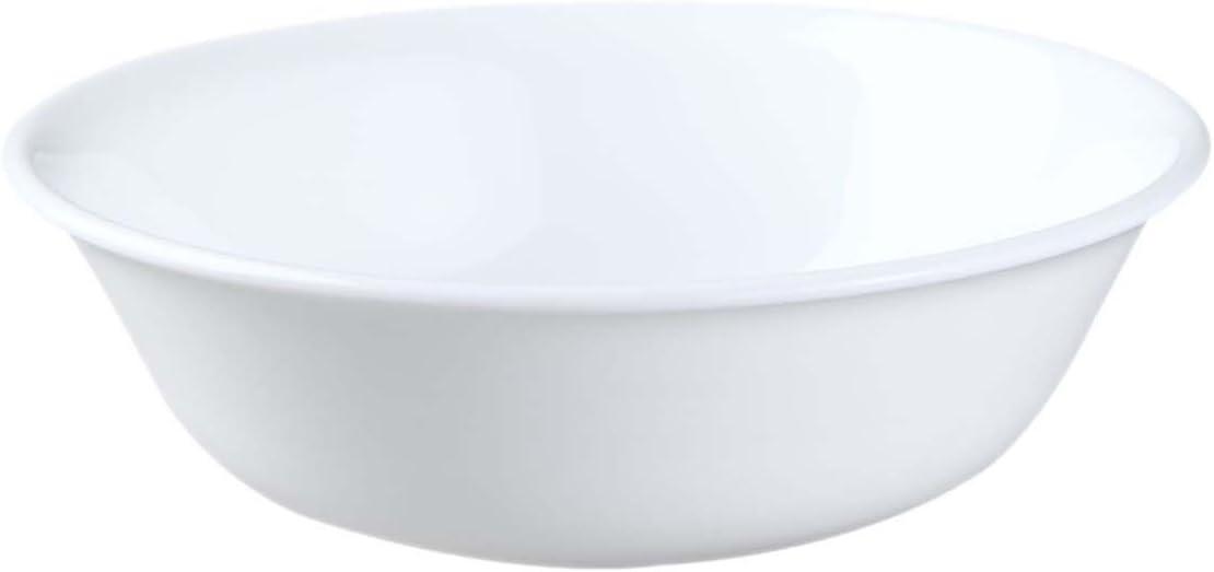 Corelle 10 oz Vitrelle Glass Winter Frost White Dessert Bowl, Pack of 6