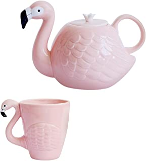 flamingo teapot set