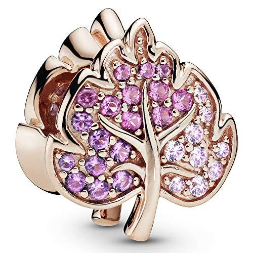 Pandora Jewelry Sparkling Pave Leaf Pandora Rose Charm