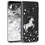 kwmobile Samsung Galaxy S9 Hülle - Handyhülle für Samsung Galaxy S9 - Handy Case in Einhorn Design Silber Transparent