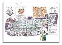 映像研には手を出すな! A4クリアファイル 芝浜高校 公立ダンジョン 部室船計画設定画&宇宙服電撃三人娘