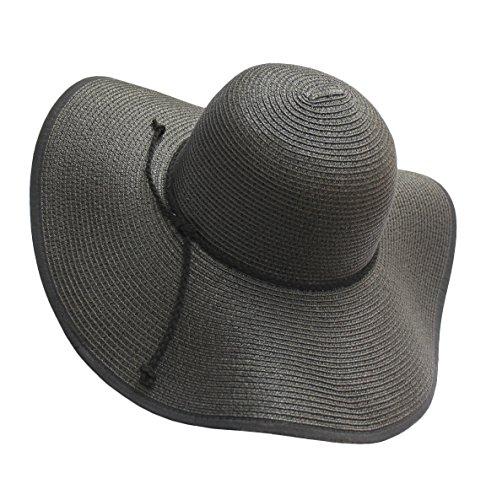 EEVASS Borde Ancho Redondo Sombrero Mujer Plegable Playa Sombreros UPF