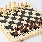 Juego de ajedrez de ajedrez de ajedrez con Juego de Juegos de Mesa de ajedrez Plegable 2 Reinas Extra Gran Conjunto de ajedrez de Regalo de Juguete de Viaje (Size : 29x29cm)