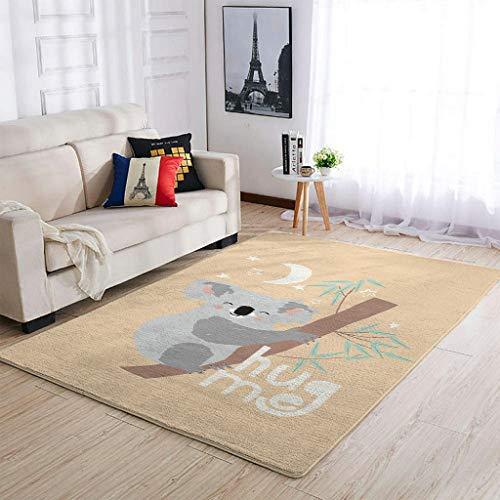 OwlOwlfan Koala Carpets Large Durable Carpets Yoga Mat for Indoor Outdoor Kids Baby's Room white 50x80cm