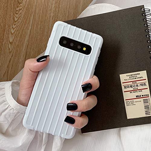 SHRHSJSJK Mode 3D Stria gepäck Design Soft case für Samsung Galaxy s10 Plus s8 s9 stoßfest Paare einfarbig telefonabdeckung, für Samsung s8 Plus