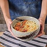wsetrtg Cuencos de Cereales Tazón de Sopa de Fideos Tazón de cerámica Grande Tazón de Porcelana de 7 Pulgadas para Ensalada Ramen Arroz con Estilo japonés