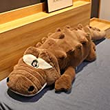 N / A Big Animal Plush Toys Stuffed Crocodile Pillow Large Plush Doll Soft Pillow Girl Gift Kids Doll for Children 120cm