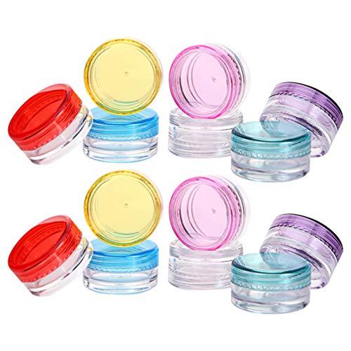 Minkissy Pots de Cosmétiques en Plastique Pot de Lotion en Plastique Bouteilles de Crème de Maquillage Pot de Stockage Cosmétique pour Les Crèmes Liquides Échantillons 56Pcs