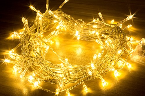 Hausger 10M 100 Warm White Fairy Lights String Lights-Ideal for Wedding,Ideal for Christmas,Ideal for Party, Ideal for Decoration
