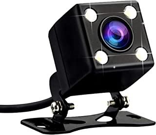 HD Night Vision Reverse Camera Car Rear View Camera with LED Lights 170 Degree Viewing Angle Parking Camera Without Guiding Line for Road Top Car Screen