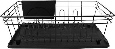Home Basics, Black Contempo 3 Piece Dish Rack (1