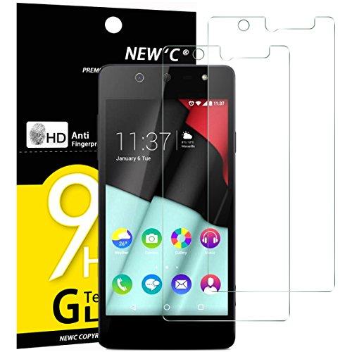 NEW'C 2 Stück, Schutzfolie Panzerglas für Wiko Selfy 4G, Frei von Kratzern, 9H Festigkeit, HD Bildschirmschutzfolie, 0.33mm Ultra-klar, Ultrawiderstandsfähig