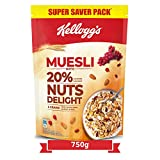 Kellogg's Muesli with 20% Nuts Delight Pouch, 750 g