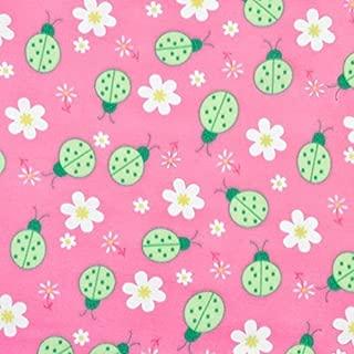 Pink Ladybug Fleece Fabric - By the Yard