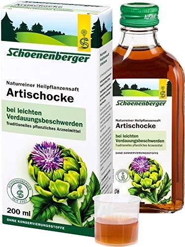 Schoenenberger Bio Naturreiner Heilpflanzensaft Artischocke (2 x 200 ml)