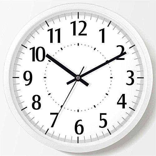 WERLM Salon élégant Horloge murale Horloge creative chambre salon chambre à coucher horloge murale mute Horloge murale Horloge quartz blanc, devrait être de 20 cm