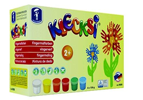 Feuchtmann Spielwaren 6330626 - KLECKSi 6 Dosen á 150 g hochwertige Fingermalfarben