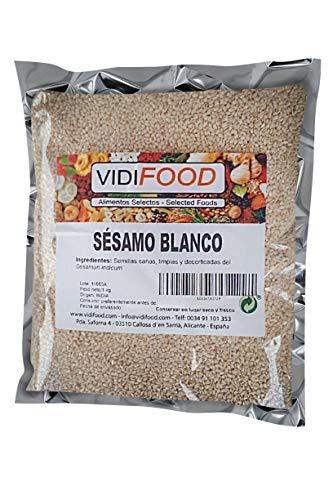 Semillas De Sésamo Blanco - 1kg - Condimento Con Sabor A Nueces Para Platos Cetogénicos Y Veganos - Semillas Crujientes Y Sabrosas