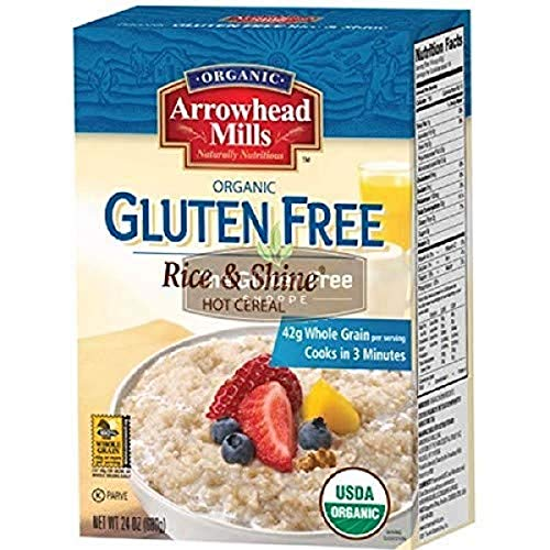 Arrowhead Mills Organic Rice & Shine Hot Cereal, Gluten Free, 24 Ounce Box (Pack Of 6)