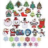 EXCEART 34 Piezas DIY Coser Apliques de Decoración de Navidad...