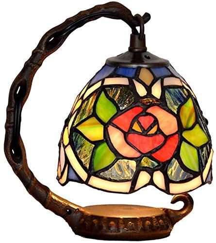 Kleine Glazen En Roze Bloemen Barokke Lamp Lijst Ruimte Kleuren Van De Bloemen Retro Tiffany,E123W