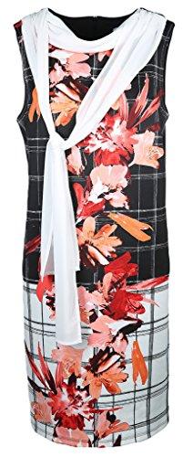 Joseph Ribkoff Damen Kleid Größe 42 Schwarz (schwarz/weiß)