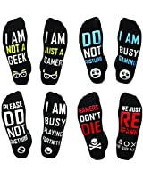 Gamer Socks Gifts Quad Pack | Novelty Socks, Do Not Disturb Socks! Gaming Socks