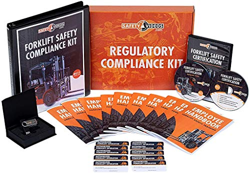 Forklift Safety Certification Kit - DVD or USB - 100% OSHA Compliant Forklift Training - Includes Video, Quiz, Trainee Handbooks, Laminated Forklift Operator Wallet Certification Cards & More