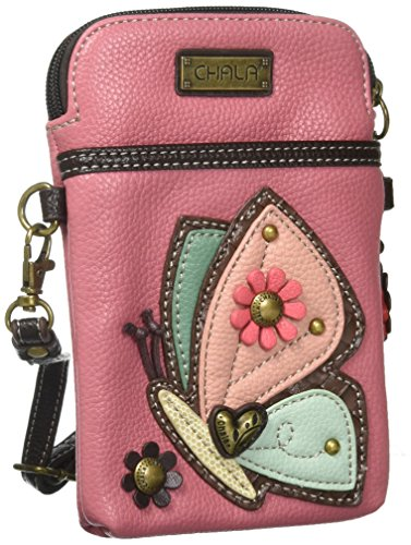 """WOMEN CROSSBODY HANDBAG WITH TWO STRAPS INCLUDED: Two separate Straps are included to allow many different Crossbody configurations. CrossBody Cell Phone Handbag, or Cell Phone Purse, or Cell Phone Clutch. OUTSIDE MEASUREMENTS: 7"""" Tall X 5"""" Wide. Str..."""
