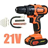 Cordless Drill Screwdriver Combi Drill with Hammer Action Magnet, 29PCS 21V 45N.m Impact